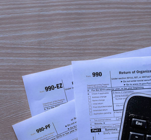 990 Tax forms for Non-profits