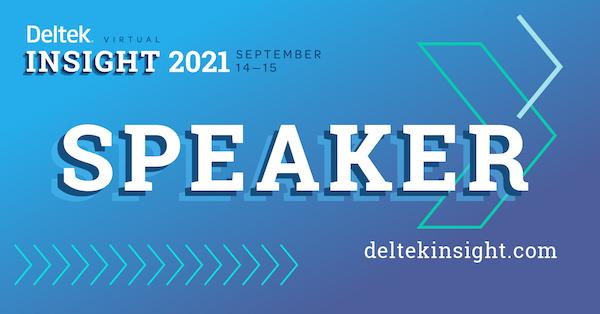 Deltek Insight 2021 Speaker graphic