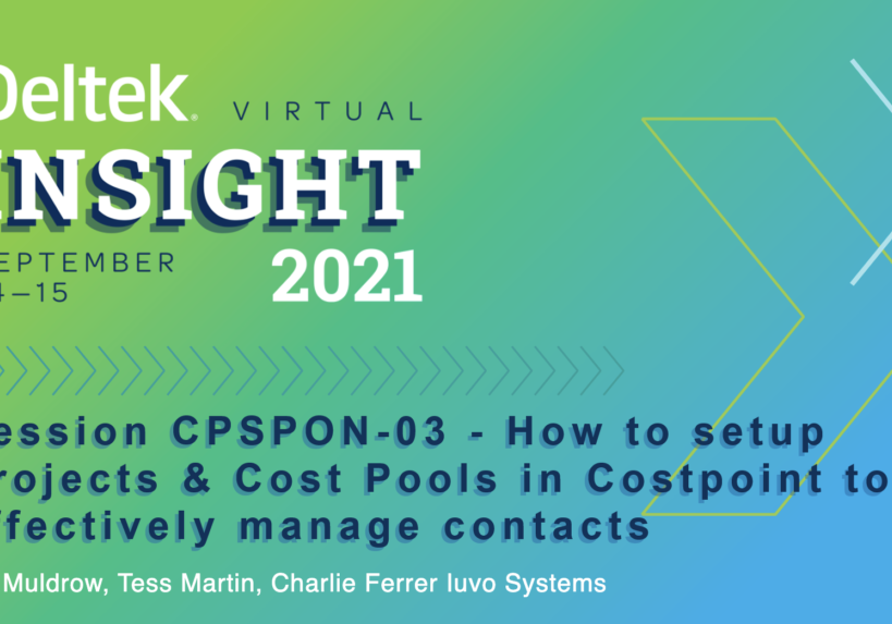 Setup Projects and Cost Pools in Costpoint Slide Cover Image